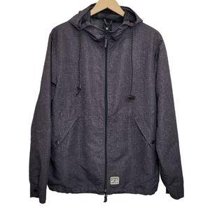 DC Jacket Hoodie Grey Skater Windbreaker Zip Up
